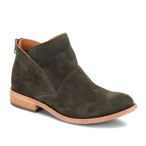 Kork-Ease Ryder Ankle Boot in Green Suede
